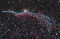 NGC 6960 The Western Veil, The Witch Broom nebula in Cygnus